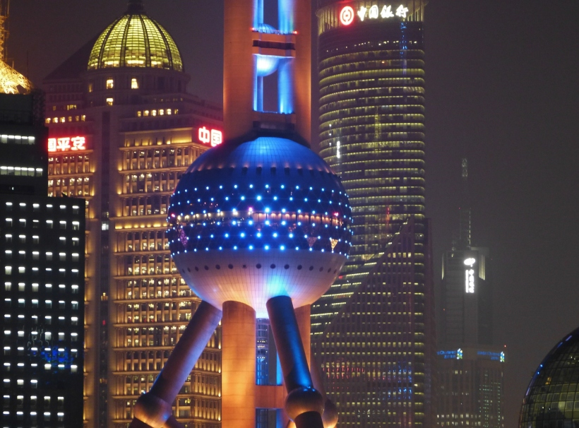 Shanghai Oriental Pearl Tower by night
