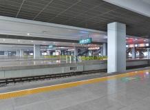 Leere Gleise in Shanghai
