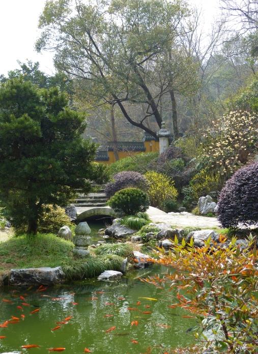 Teehaus mit Teich