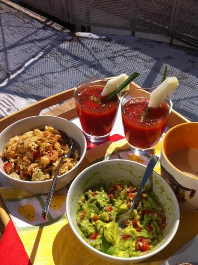 Frühstück auf Beton