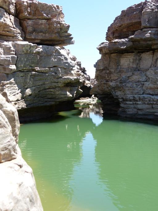 Am Grund des Fish River Canyon