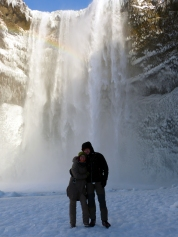 Wir und der Wasserfall
