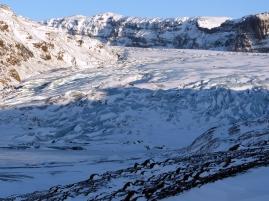 Die Gletscherzunge des Sólheimajökull