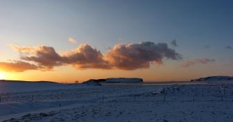 Traumhafter Sonnenuntergang in Reynisfjara