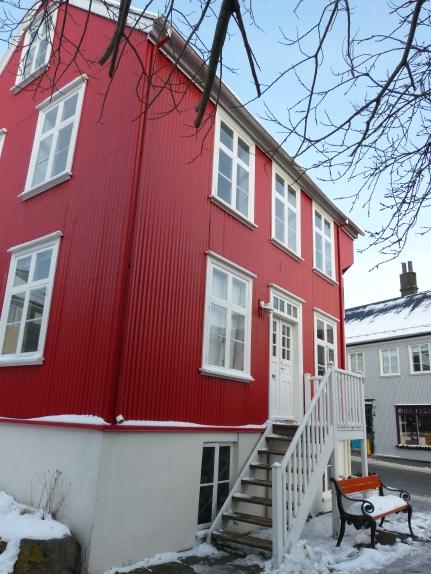 Bunte Häuser in Reykjavík