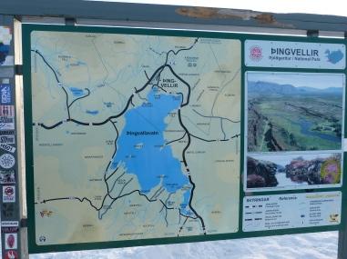 Karte Þingvellir Nationalpark