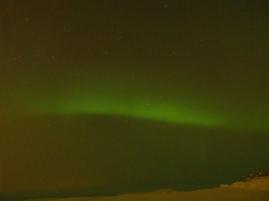 Polarlicht im Nebel