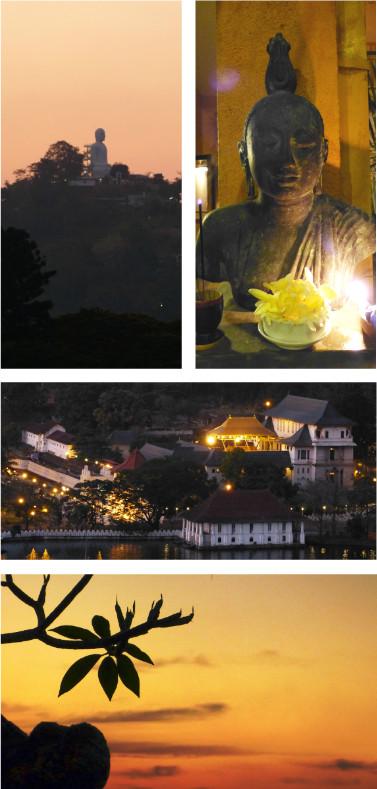 Abendstimmung über Kandy