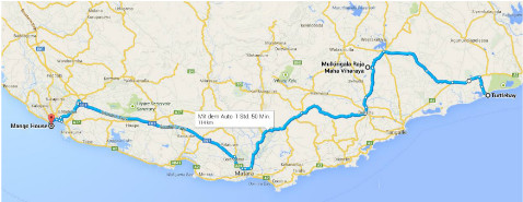 Fahrt von Tangalle nach Galle