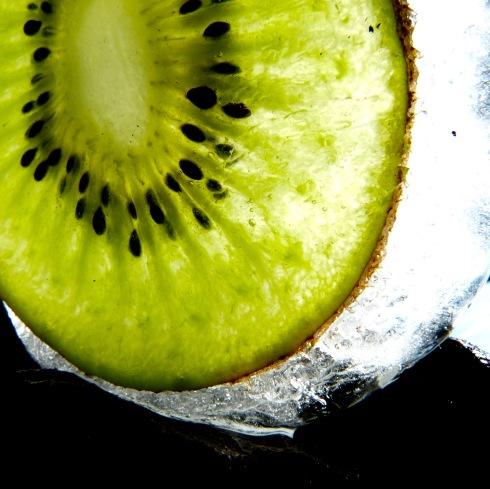 Gefrorene Kiwi