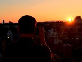 Sunset over Hanau