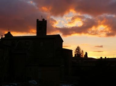 Sonnenuntergang vom Ristorante Pergola