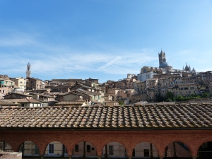 Blick auf Siena