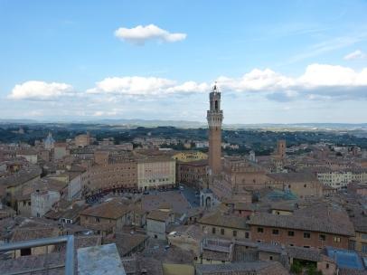 Blick auf den Piazza del Campo