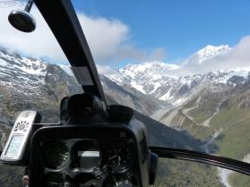 Anflug auf die Berge