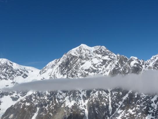 Anflug auf den Mount Tasman