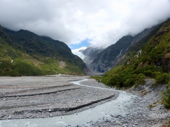Franz-Josef Gletscher von unten
