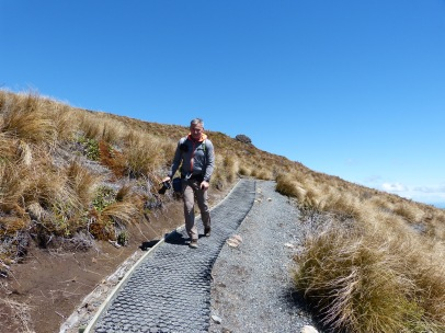 Abstieg beim Tongariro Alpine Crossing