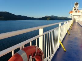 Traumhaft ruhige Überfahrt