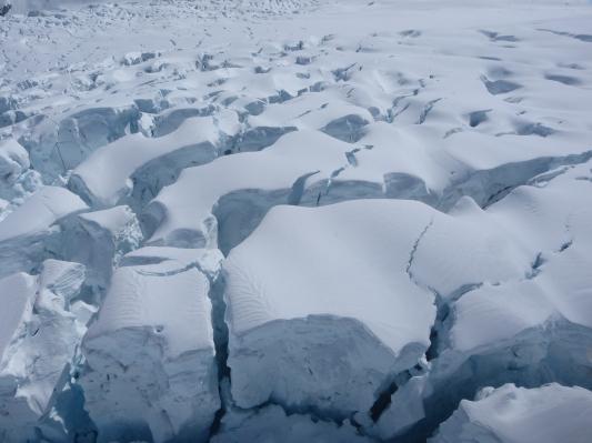 Icefalls am Franz-Josef Gletscher