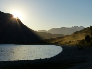 Lake Hawea bei Sonnenuntergang