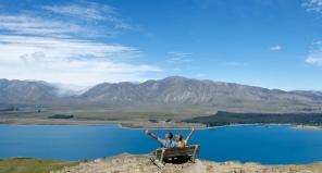Oberhalb des Lake Tekapo