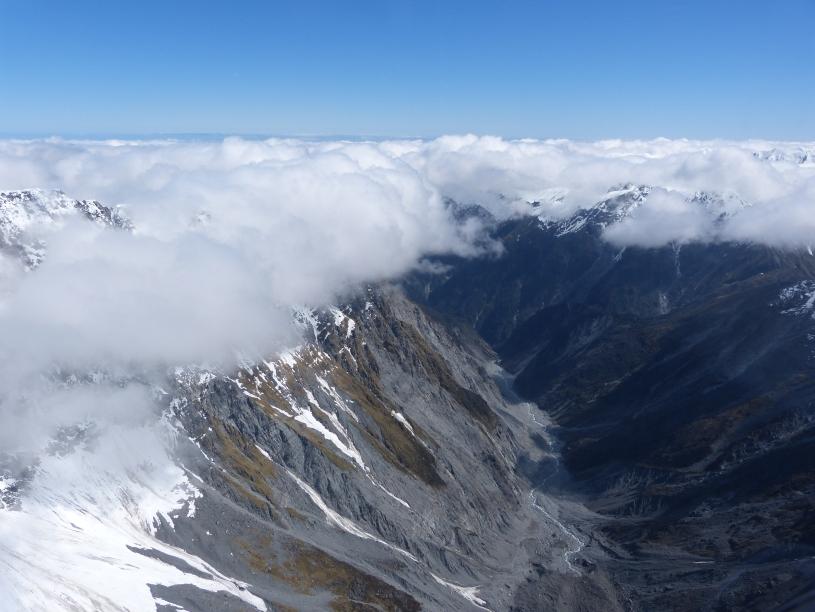 Flug zum Franz-Josef Gletscher