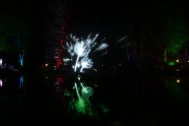 Pusteblume im Springbrunnen