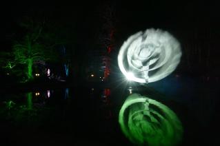 Projektion in die Fontäne