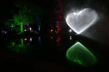 ... einem Herz formt
