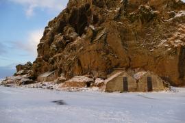 In Stein gebaute Häuser