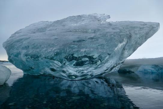Tolles Licht in der Gletscherlagune