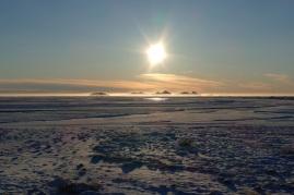 Blick über die verschneite Ebene