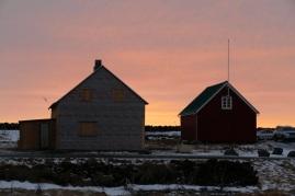 Sonnenaufgang in Grindavik