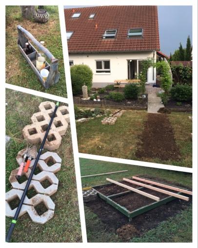 Die Entstehung der Terrasse (7.Juni)