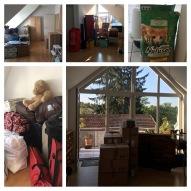 Umzugsvorbereitung in der alten Wohnung