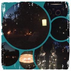 Laue Sommernacht bei Kerzenschein