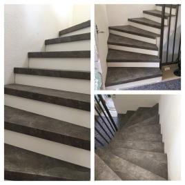 Die Treppe ist drinnen!!