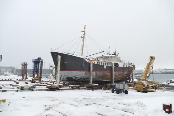 Altes Boot am Hafen