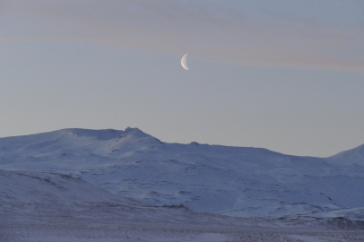 Winter in Island um 10 Uhr 30