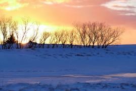 Toller Sonnenuntergang auf der Fahrt nach Húsafell