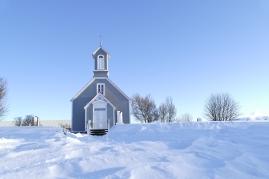 kleine Kirche in Reykholt