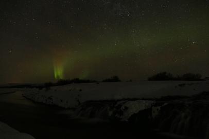 Aurora in Húsafell