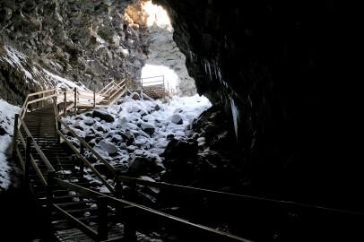 Der Ein- und Ausgang im Cave Víðgelmir