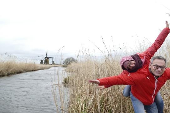Windmühle bei Kinderdijk